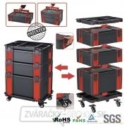 37c8412a65ccb Modulový 5-dílný vozík na náradie se samostatnými kufry Genborx MML7