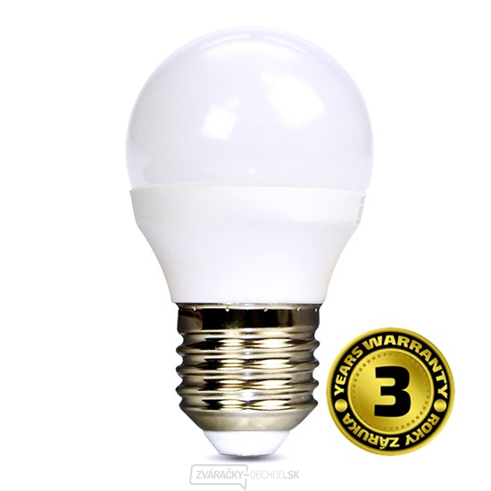 Solight LED žiarovka, miniglobe, 6W, E27, 4000K, 450L