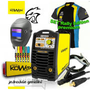 KOWAX® GeniArc®160 Zvárací invertor MMA/TIG RALLY EDITION SET III - 3 Káble + Kukla + Elektródy 2.5mm/2.5kg + Tričko