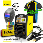 KOWAX® GeniArc® 160 EVO Zvárací invertor MMA/TIG RALLY EDITION SET III - 3m Káble + Kukla + Elektródy 2.5mm/2.5kg