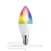 Solight LED SMART WIFI žiarovka, sviečka, 5W, E14, RGB, 400lm